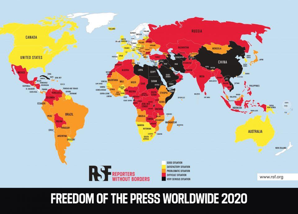 L'autrice Veronica Rosazza Prin ci parla di come l'Italia si classifichi 41esima nella classifica dei Paesi in cui vige la libertà di stampa